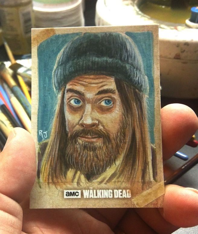 Robert Jimenez Topps Walking Dead Sketch Card