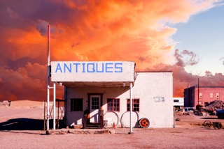 Antiques on fire